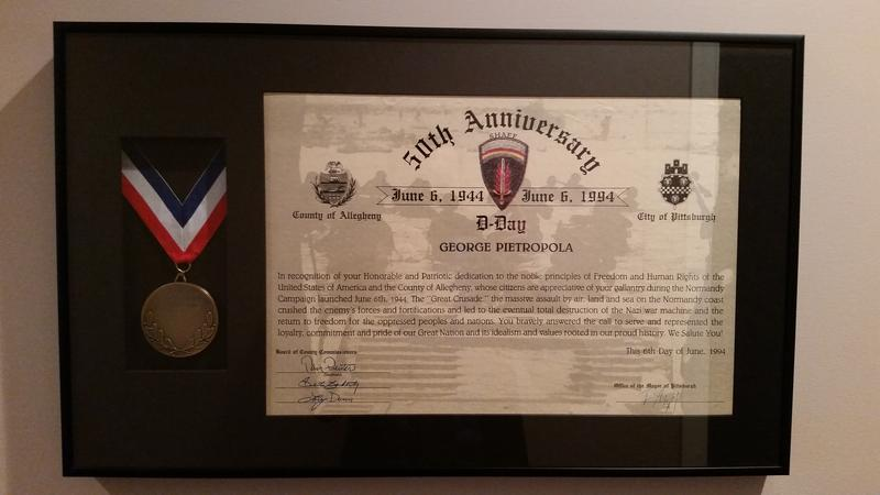 George Pietropola's 50th Anniversary of D-Day Award