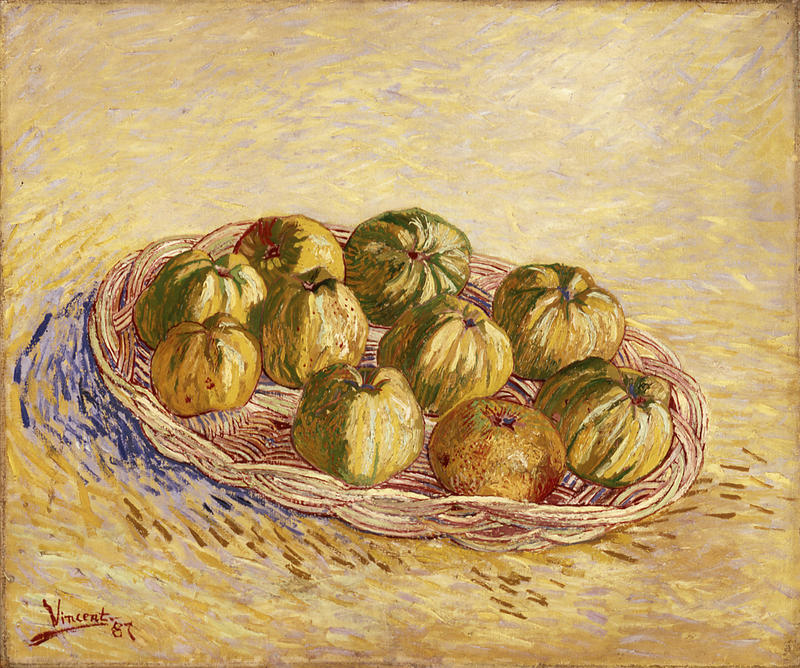 """Vincent Van Gogh's """"Still Life, Basket of Apples"""" will be on loan from the St. Louis Art Museum."""