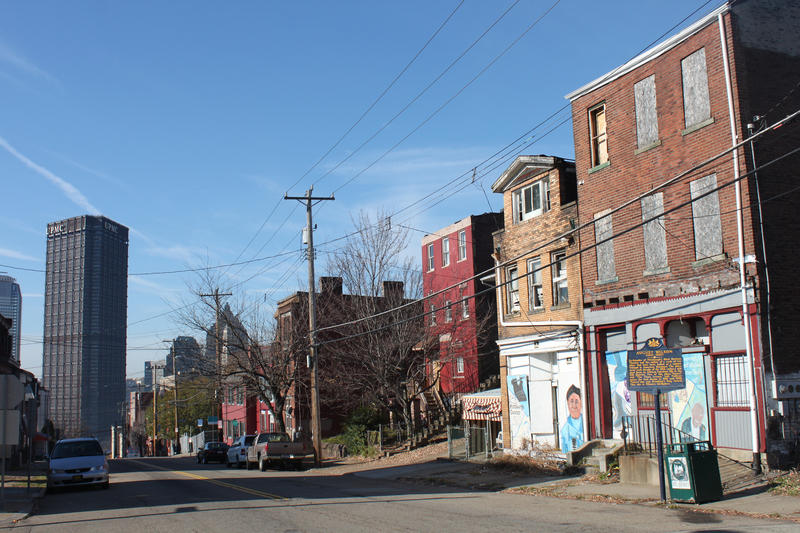 Playwright August Wilson's childhood home in the Hill District.