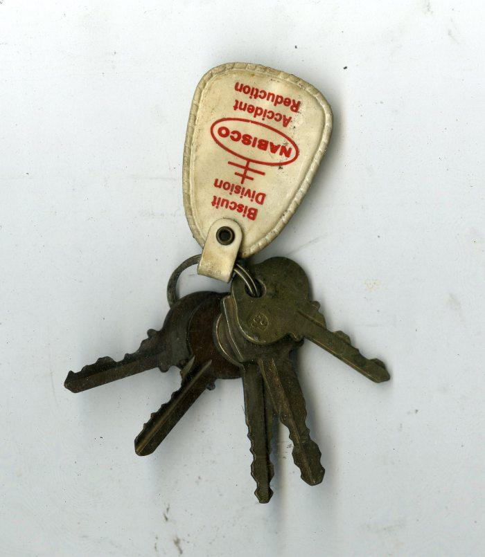 A Nabisco Baking Company employee's keys, excavated from 6119 Penn Ave., formerly an after-hours club.