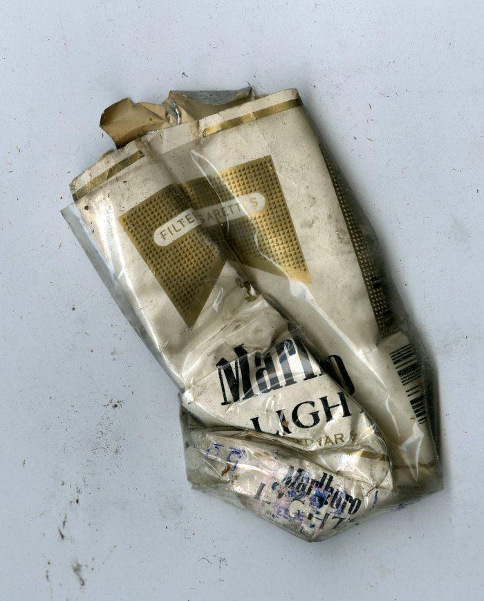 Cigarette pack excavated from 6119 Penn Ave., formerly an after-hours club.