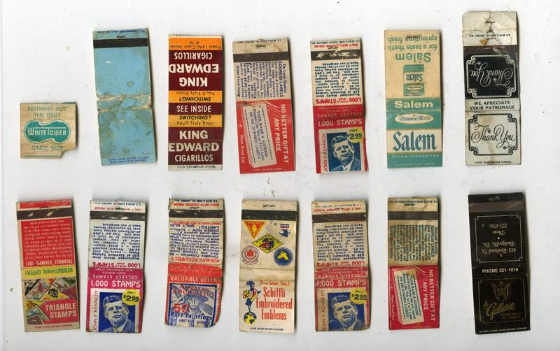 Matchbooks excavated from 6119 Penn Ave., formerly an after-hours club.
