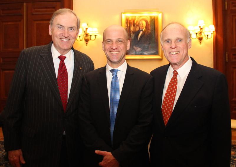 Steve Sokol (middle) is stepping down from his position with the World Affairs Council of Pittsburgh to act as President and CEO of the American Council on Germany.