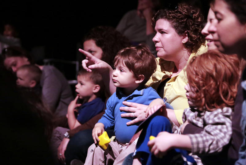 Melissa Filipovic watches Umbo with her son William.