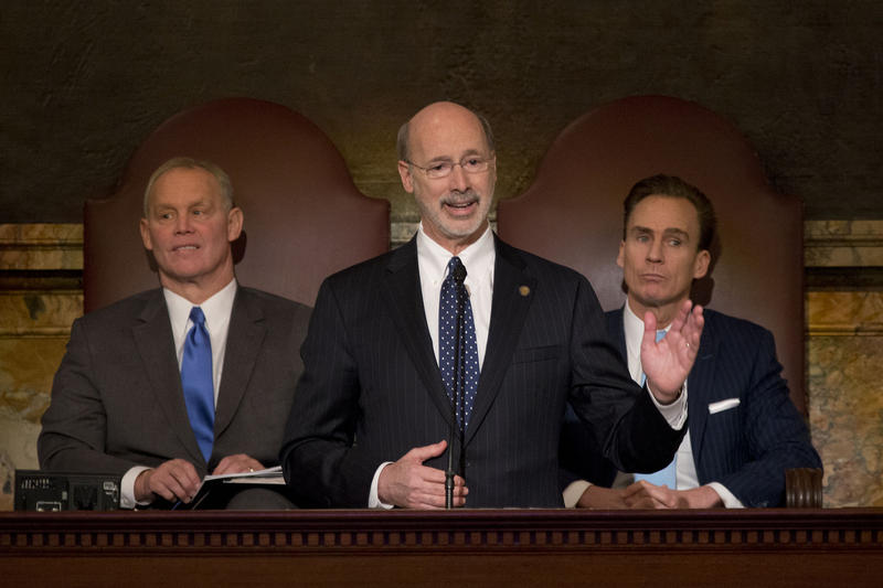 Governor Tom Wolf delivers his 2015-2016 budget speech on March 3rd, 2015 at the State Capitol Building in Harrisburg.