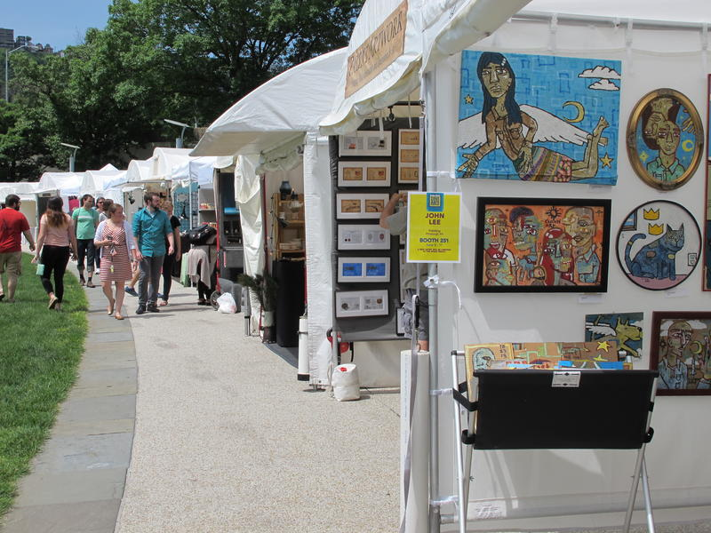 Hundreds of artists will sell their wares at Point State Park during the Three Rivers Arts Festival.