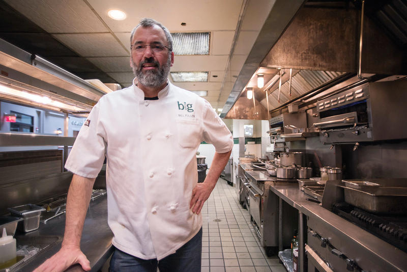 Bill Fuller, corporate chef for the Big Burrito Group, photographed at Eleven in the Strip District.