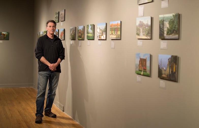 Local painter Ron Donoughe's current exhibition 90 Neighborhoods will be shown at the Pittsburgh Center for the Arts until Aug. 9.