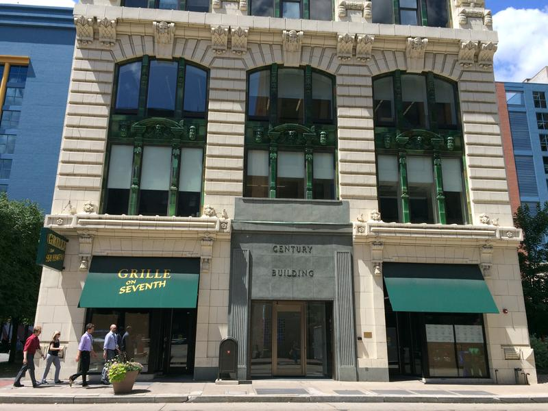 "The Century Building on Seventh Avenue uses water from Pittsburgh's aquifer, sometimes incorrectly called ""the fourth river,"" for heating and cooling."