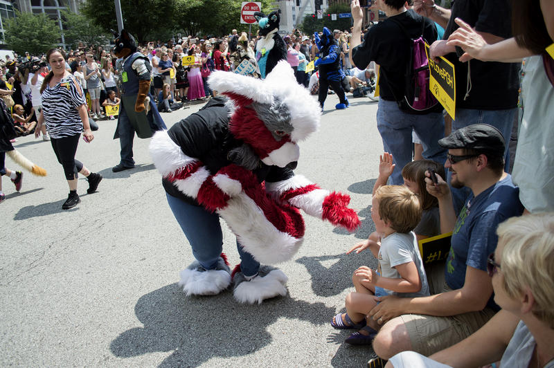 Anthrocon has always included an annual fursuit parade, but 2015 marked the first time furries have marched outdoors.