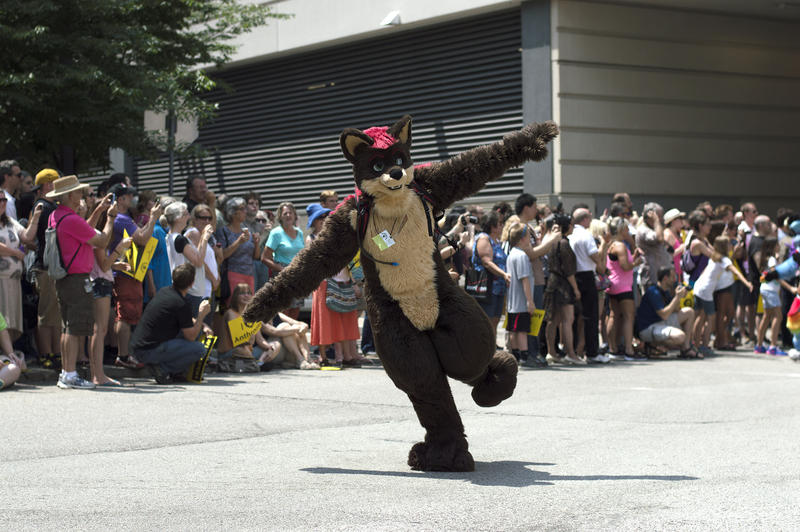 Some of the furries danced and did tricks during the parade.