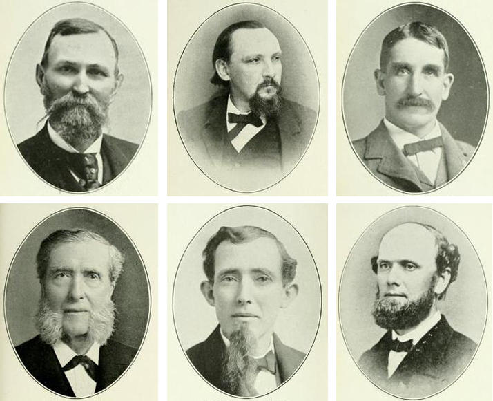 Between 1857 and 1914, Pittsburgh's mayors cultivated some top-notch facial hair. Top row, mayors left to right: Henry I. Gourley, Robert Liddell and Andrew Fulton; bottom row, mayors left to right: Henry A. Weaver, William McCallin and James Lowry, Jr.