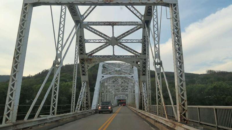 The Nanticoke Bridge connects the city with the West Nanticoke section of Plymouth Township, Luzerne County, on the other side of the Susquehanna River.