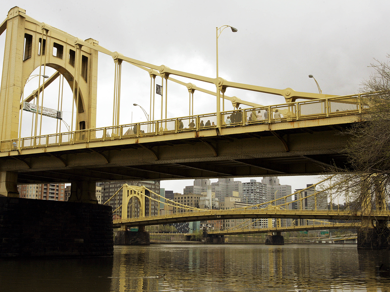 "Pittsburgh's ""Three Sisters"" haven't been painted since the late 1980s. An online poll is asking if the bridges should remain yellow."