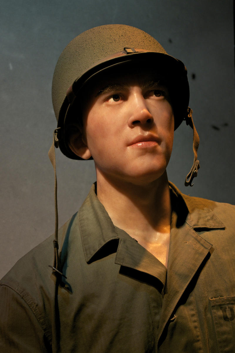 A life-sized clay model of a soldier inside the WWII exhibit at the Heinz History Center.