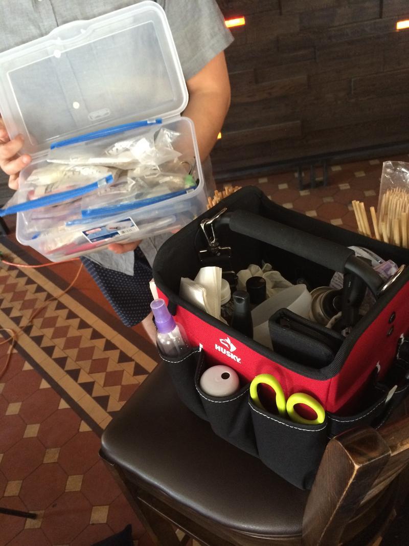 Adam Milliron's box of tools.