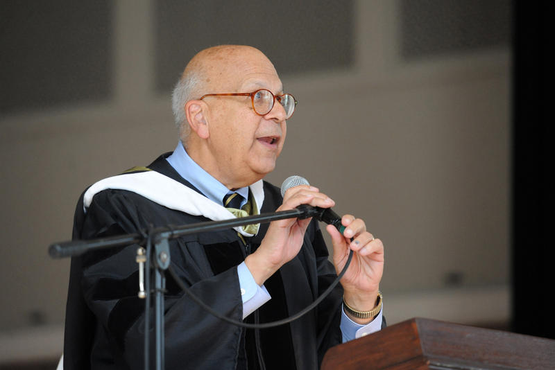 Harvard University Graduate School of Education Professor Dr. Richard Light speaks to students and faculty at Chatham University's convocation ceremony on Sunday.