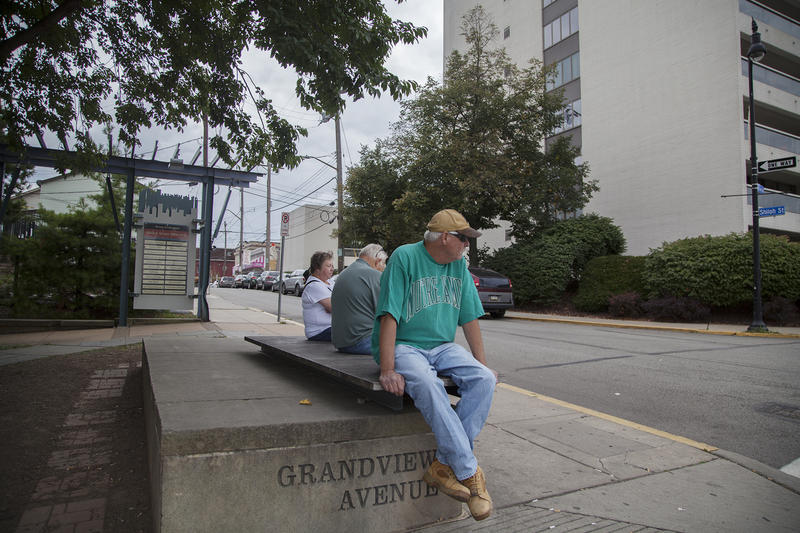 "Native Pittsburgher Bill Hoffman, of Mt. Washington pauses after a walk on the corner of Grandview Avenue and Shiloh Street. The temporary closure will affect him ""very little,"" he said."