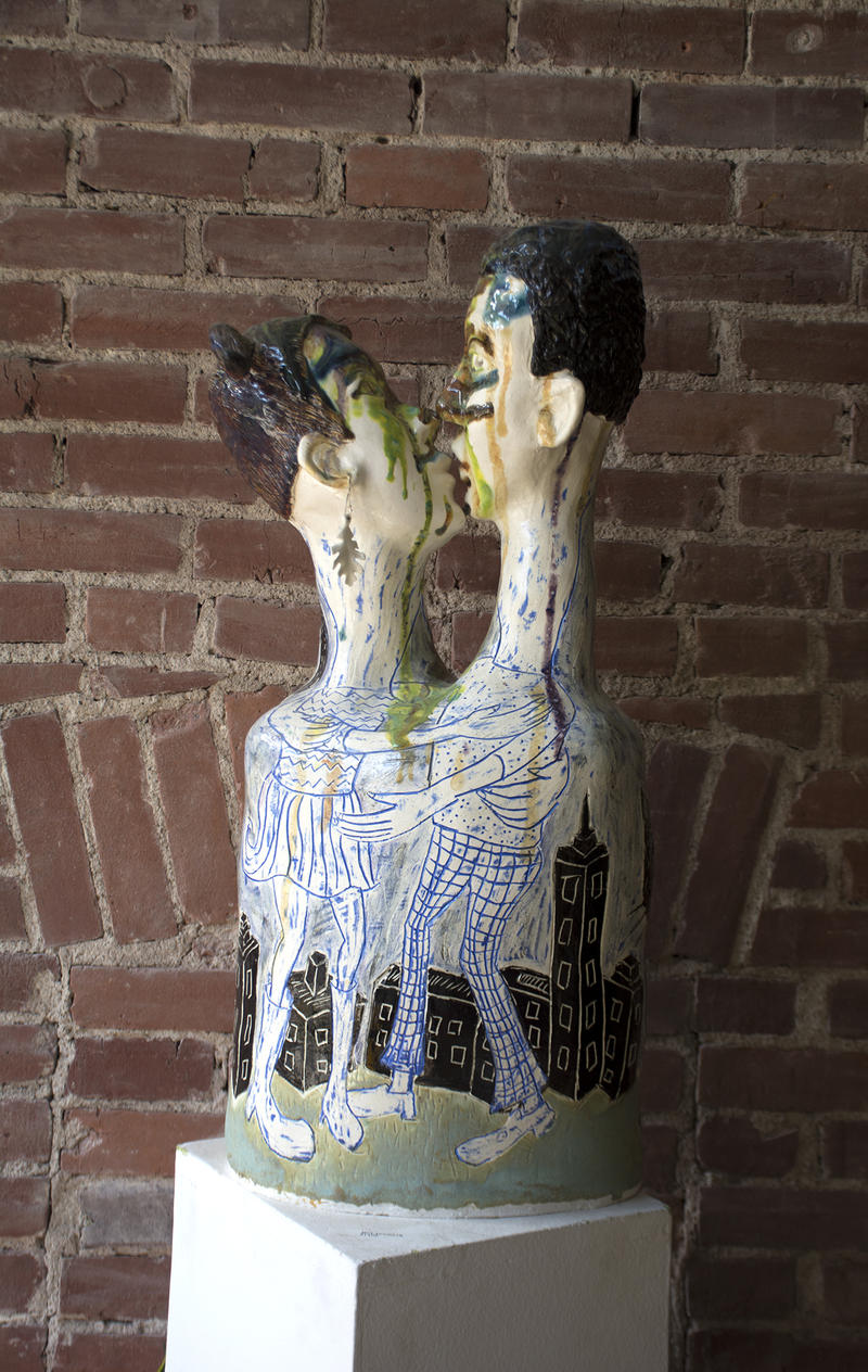 Sculptures, prints, paintings and mosaics abound at the Clay Penn studio and gallery in Garfield.