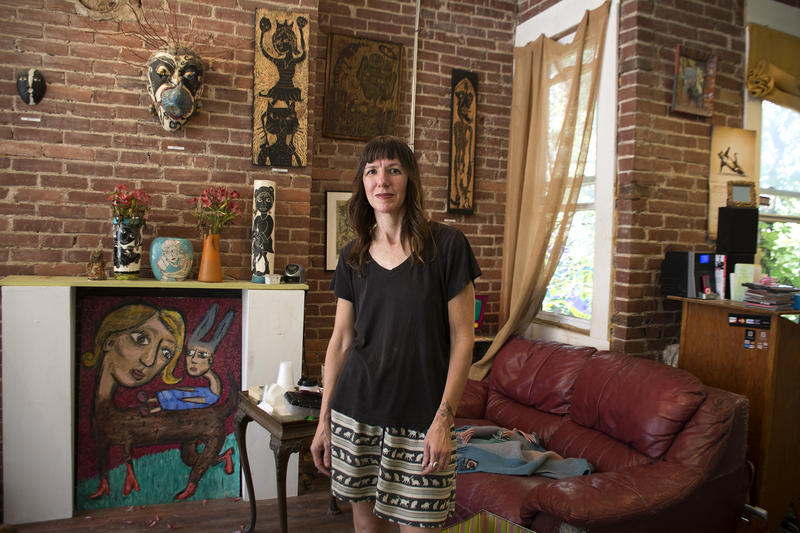 Laura Jean McLaughlin has welcomed guests to her studio and gallery in Garfield for 14 years. She said she hopes local revitalization efforts reclaim the neighborhood as one welcoming to both mom and pop businesses and residents who might patronize them.