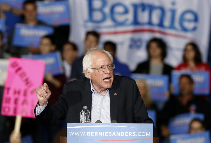 Vermont Sen. Bernie Sanders speaks during a campaign rally in Springfield, Mass., Saturday, Oct. 3, 2015.