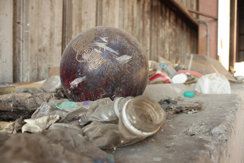 The Neville Island plant cannot recycle this bowling ball, nor roughly 12 percent of the 10,000 tons it receives every month.  Most materials are not inherently impossible to recycle, but they cannot be processed here.