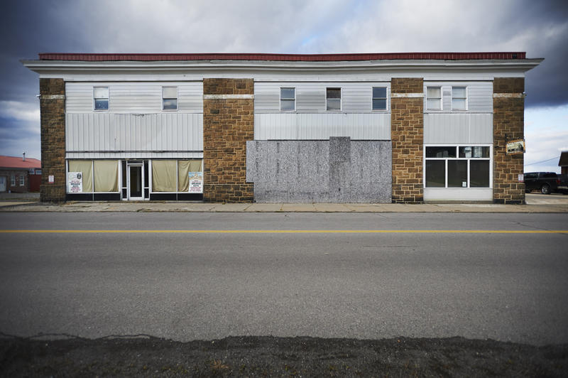 This used to be the company store. The empty lot to the left used to hold a barber shop, soda grill and a restaurant called the Pick and Shovel.