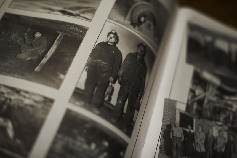 Two coal miners from the Colver Centennial booklet, made in 2011 by Janet Hoover and Genie Semko.