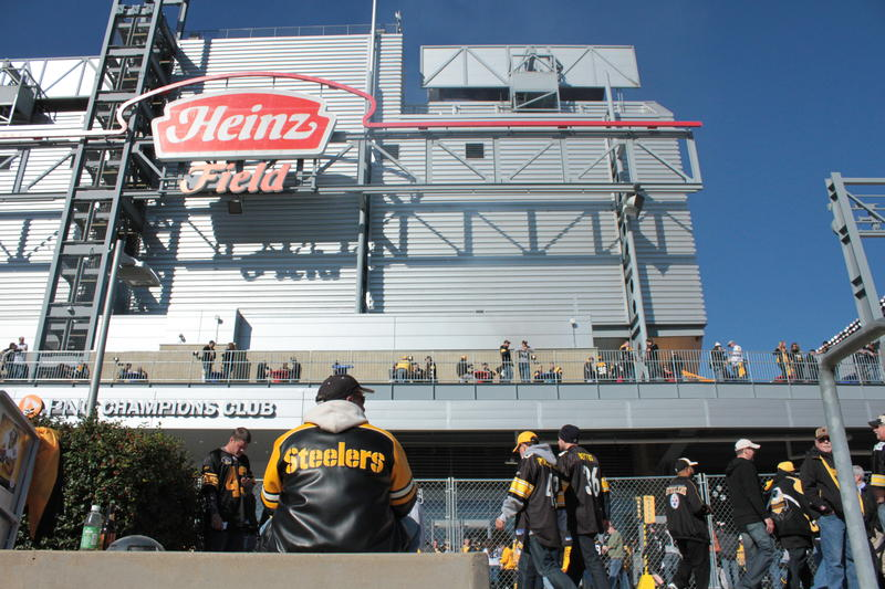 Steelers and Raiders fans soak up late fall sunshine before heading into a home game on Sunday, November 8.