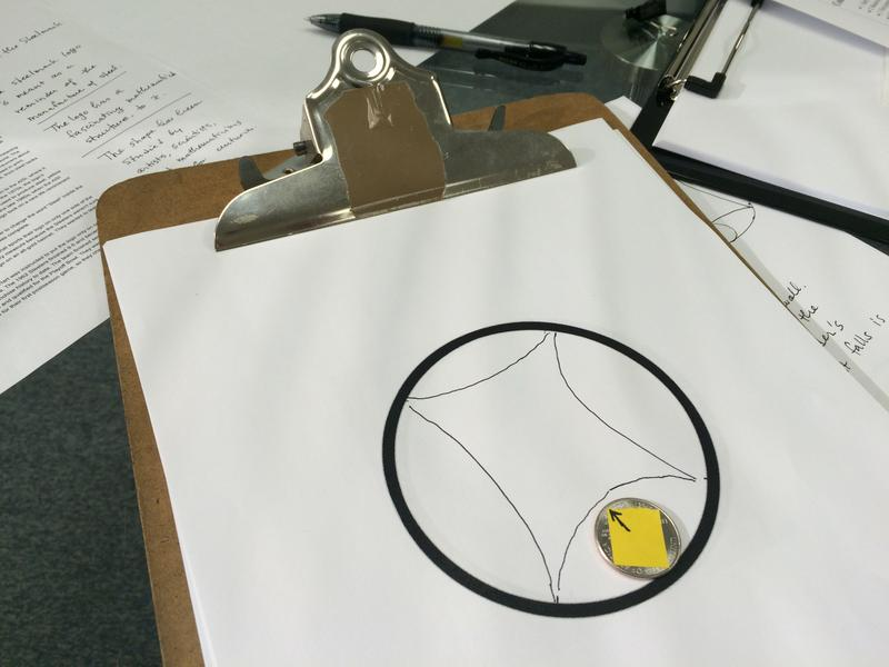 Mathematician and University of Pittsburgh professor Tom Hales demonstrates how a hypocycloid is formed: it describes the motion of one circle, the quarter, within another.
