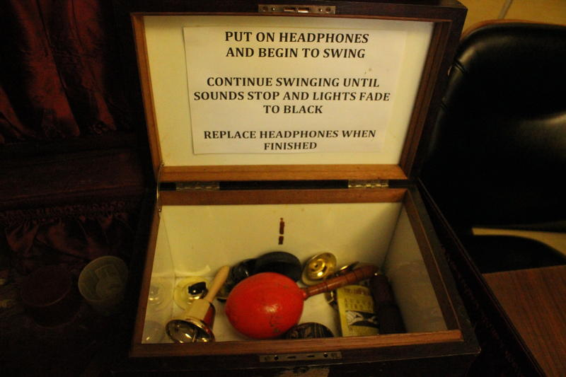 Props for sound effects used at the Bricolage during productions.
