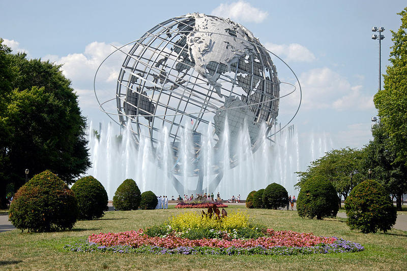 Unisphere in Flushing Meadows Borough Queens, NY