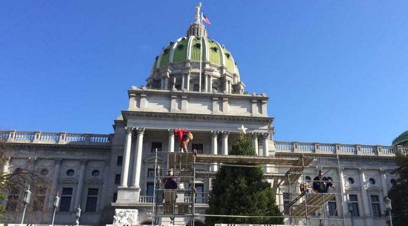 The Pennsylvania capitol building in Harrisburg. An AP review of sexual abuse and harassment found that the state agreed to pay more than $3 million to settle dozens of claims.
