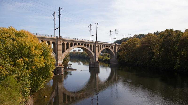 The Manayunk Bridge reopened Oct. 30 to pedestrians and cyclists connecting Philadelphia's Manayunk neighborhood to Lower Merion Township in Montgomery County, Pa.