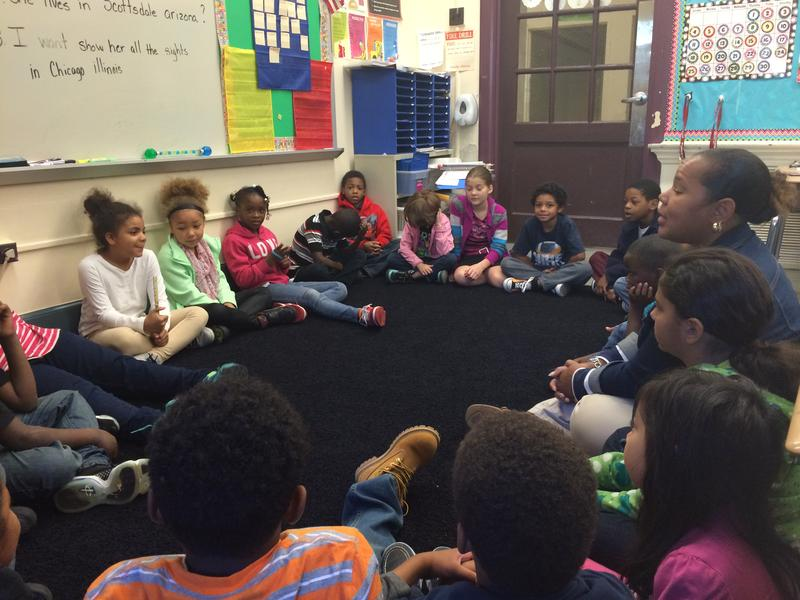 Marla Smith's second grade class at Langley K-8 discusses bullying.