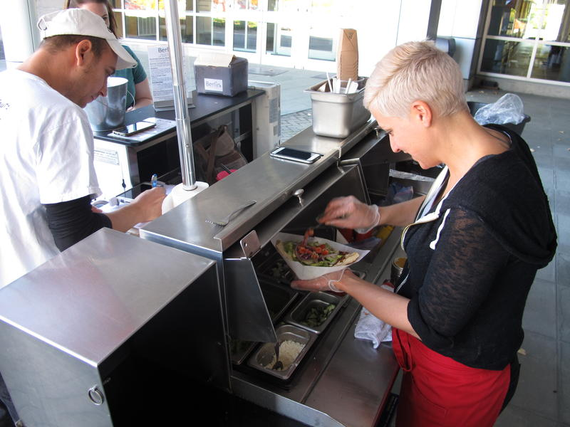 Dustin and Sandra Friedel started their mobile food cart, Berlin Street Food, nearly two years ago. They now have two carts; during the summer, they sell their homemade sausages at two to four events a day.