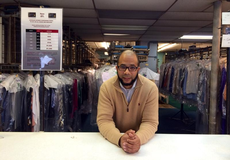 Justin Strong, owner of Strong II Dry Cleaners.