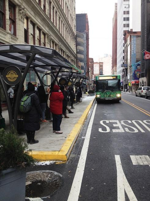 The new downtown 'super stop' is designed to help one of Pittsburgh's commuter's most frequent spots.