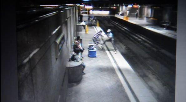 Port Authority security footage from May 30, 2015, shows a group of white men assaulting Kevin Lockett, a black man, at the Wood Street subway station in Pittsburgh.