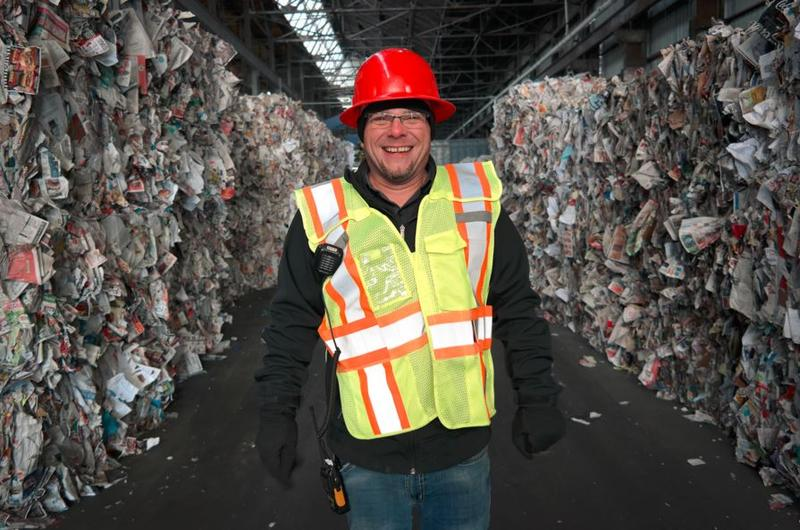 Russell Holby is the guy who makes sure the contents of your recycling bin get unjumbled and turned back into usable materials.