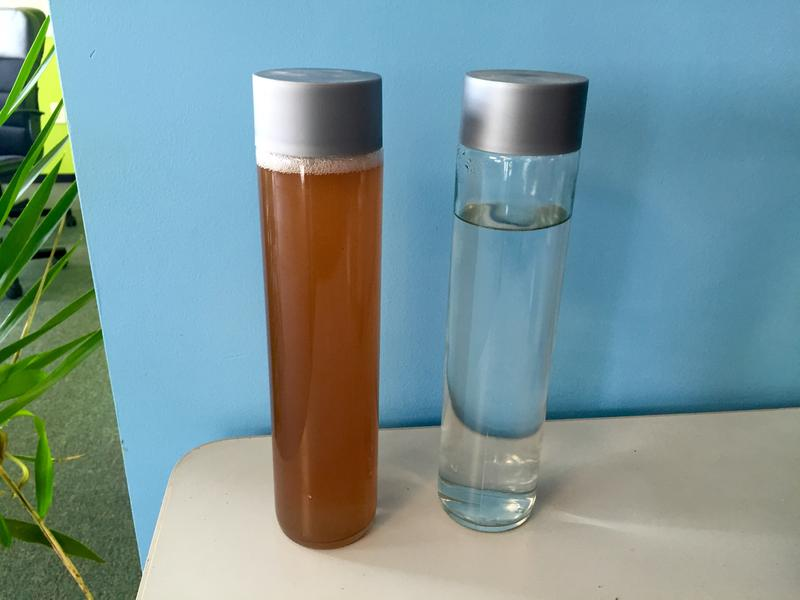 The difference between fracking water and the distilled finished product.