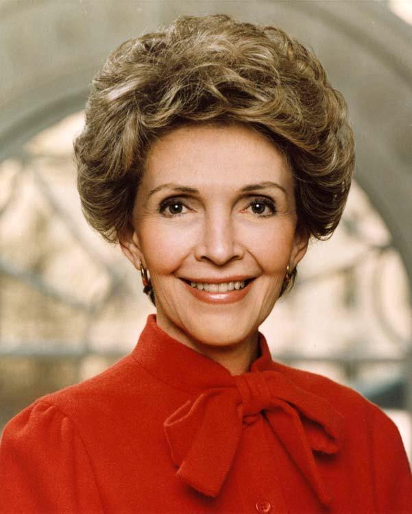 Former first lady Nancy Reagan.
