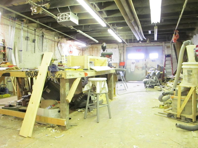 Chase McBryde's warehouse studio.