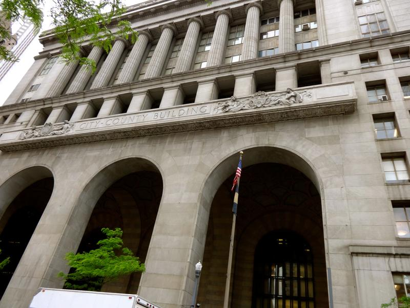 Pittsburgh's City County Building is among the properties participating in the Pittsburgh 2030 District initiative. Despite its age, the nearly 100-year-old building is fairing well in energy savings by comparison to its newer, Downtown neighbors.