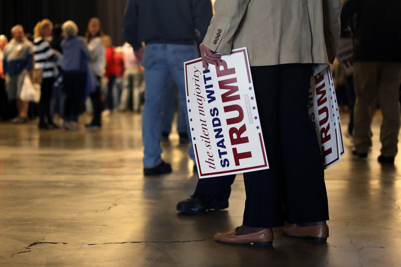 Donald Trump supporters started lining up around noon Wednesday, April 13, 2016 for the Republican front-runner's first Pittsburgh appearance.
