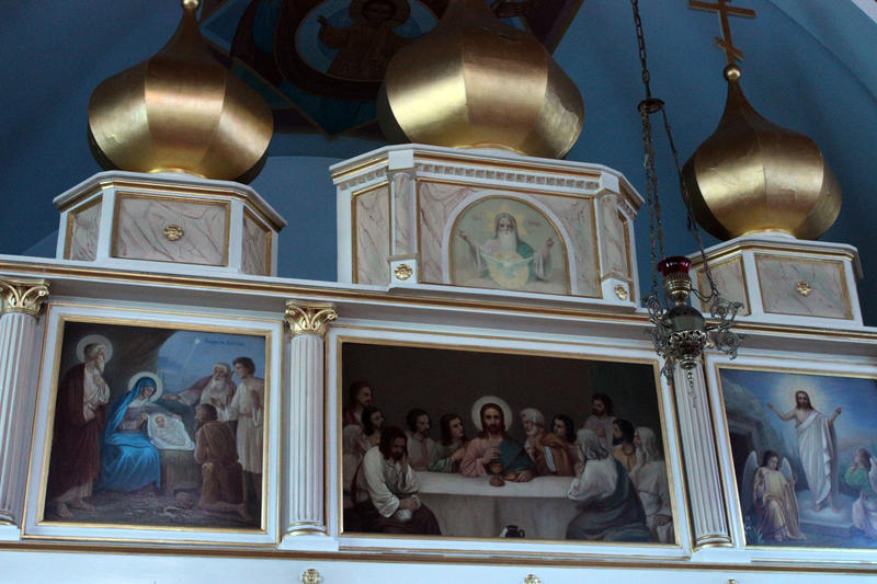 A mural inside Holy Assumption of St. Mary's Orthodox Church on the South Side.