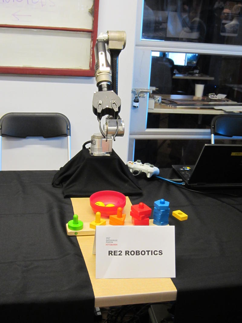 Robotics on display at the Alpha Lab Gear- MIT Enterprise Forum robotics event.