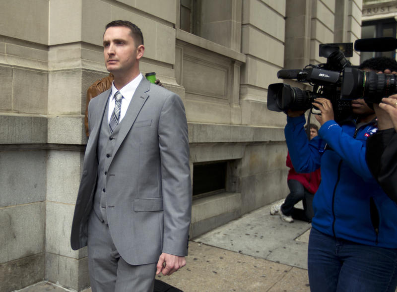 Officer Edward Nero, one of six Baltimore city police officers charged in connection to the death of Freddie Gray. Nero was acquitted of the four charges against him.