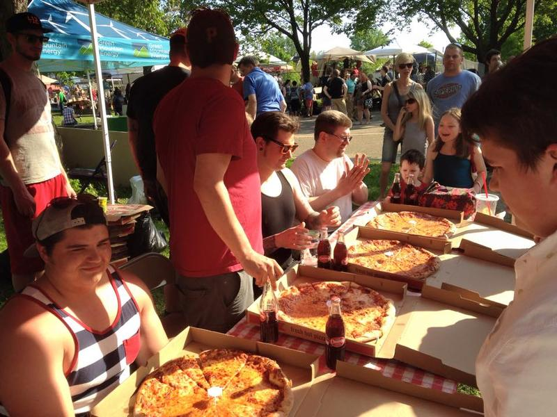 Last year's Steel City Pizza Fest featured samples from eight local pizza shops.