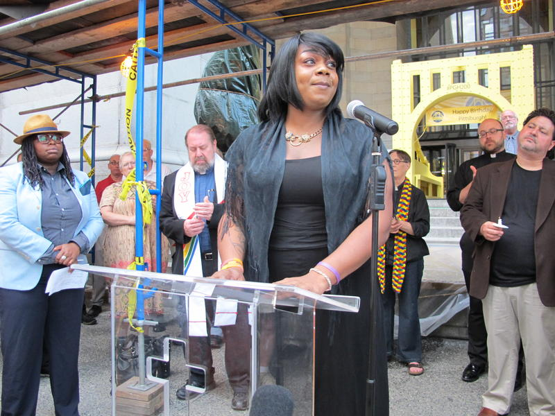 Ciora Thomas says, as a black transgender woman, it is hard to feel safe when stepping outside every day.